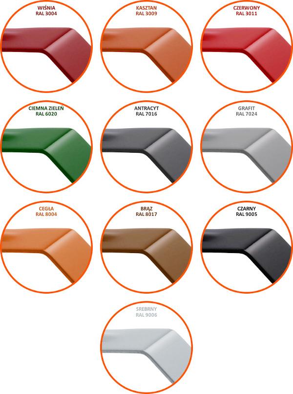 Kolory RAL komunikacja dachowa
